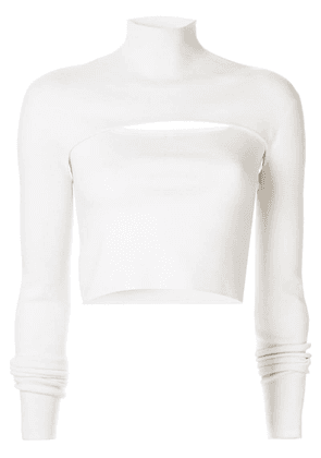 Dion Lee slim-fit layered top - White