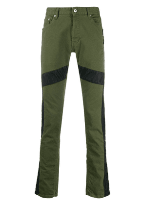 Just Cavalli panelled slim-fit jeans - Green