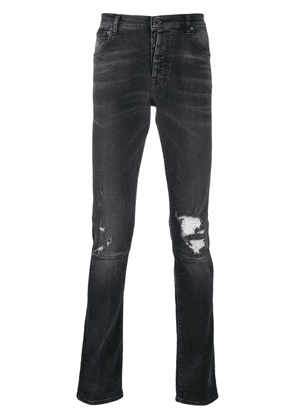 Unravel Project distressed slim-fit jeans - Black