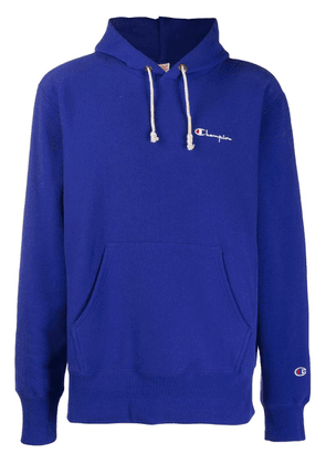 Champion logo embroidered hoodie - Blue
