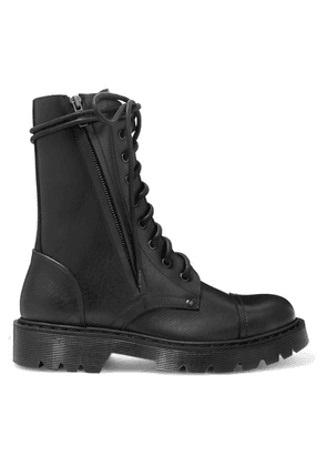 Vetements - Lace-up Leather Ankle Boots - Black