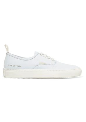 Common Projects - Four Hole Nubuck Sneakers - Off-white