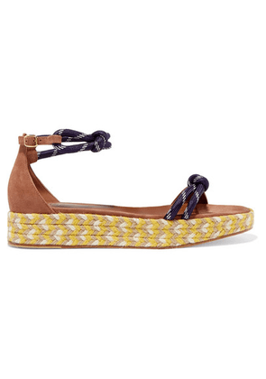 Malone Souliers - Simona 30 Rope And Suede Platform Espadrilles - Tan