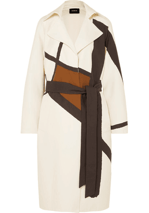 Akris - Eevee Printed Cotton-blend Twill Trench Coat - Ivory