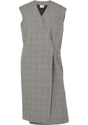 Vetements - Frayed Prince Of Wales Checked Wool Vest - Gray