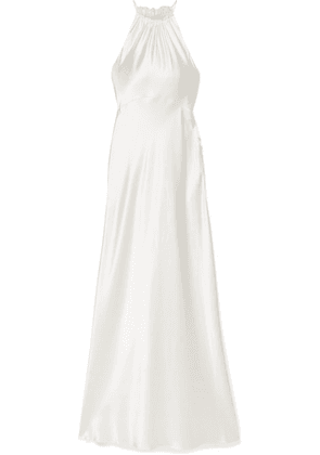 Les Rêveries - Silk-charmeuse Halterneck Gown - Ivory