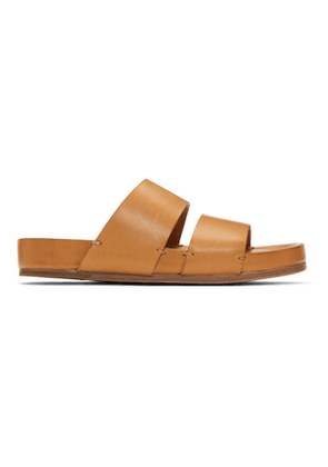 Feit Tan Slip-On Sandals