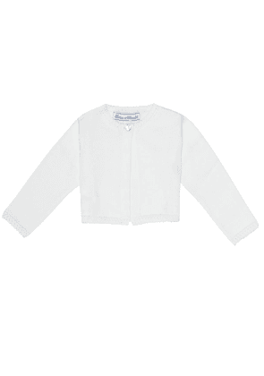 Baby cropped cotton cardigan