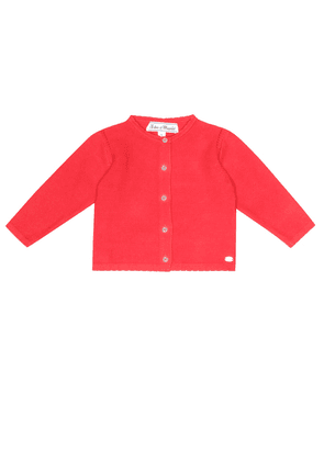 Baby cotton openwork cardigan