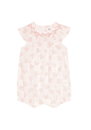 Baby floral cotton playsuit