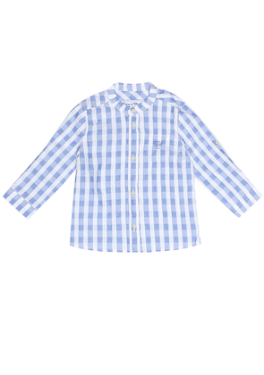 Baby checked cotton shirt
