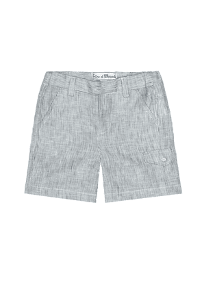 Baby striped linen shorts