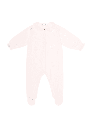 Baby embroidered cotton onesie