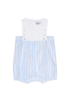 Baby striped cotton playsuit