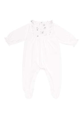 Embroidered cotton onesie