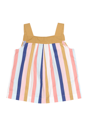 Soleil striped cotton top
