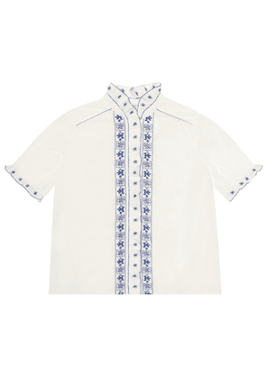 Lauriane embroidered cotton shirt