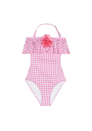 Gingham swimsuit