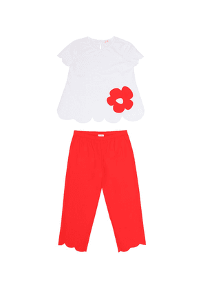 Scalloped T-shirt and pants set