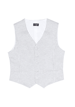 Striped cotton vest