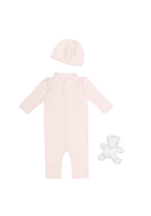 Onesie, hat and teddy bear set