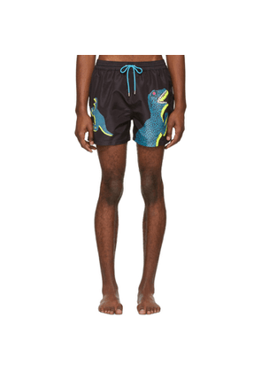 PS by Paul Smith Black Dino Swim Shorts