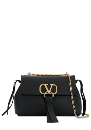 Small V Ring Leather Shoulder Bag
