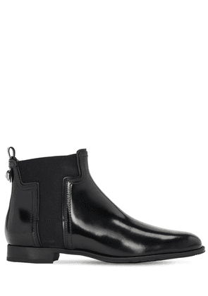 20mm Leather Beatle Ankle Boots