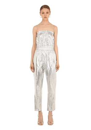Timi Metallic Cotton Jumpsuit