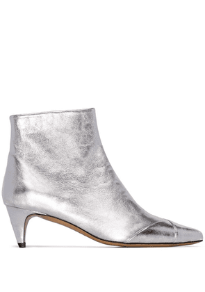 Isabel Marant Silver Durfee 60 Ankle Boots - Metallic