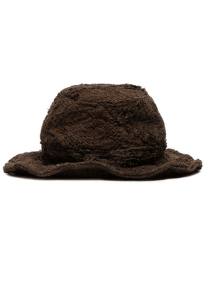 By Walid Firas embroidered bucket hat - Brown
