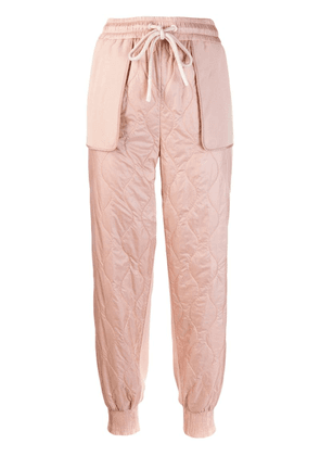 Moncler quilted trousers - Pink