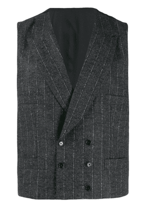Dolce & Gabbana double-breasted pinstripe vest - Grey