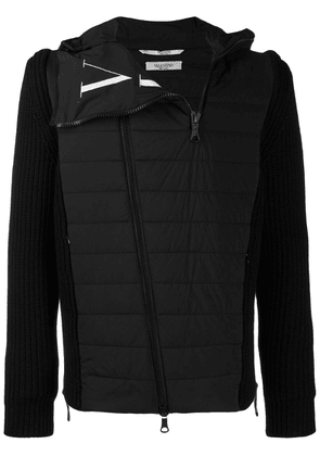 Valentino VLTN logo wool padded jacket - Black