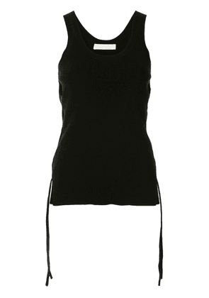 Dion Lee fitted cut-out top - Black