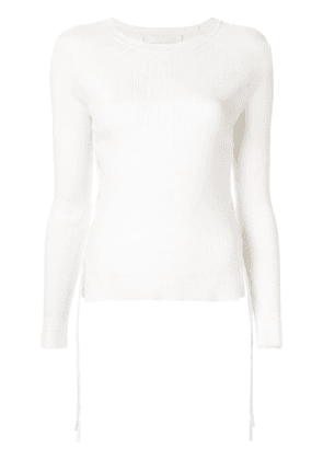 Dion Lee cut-out side ribbed sweater - White