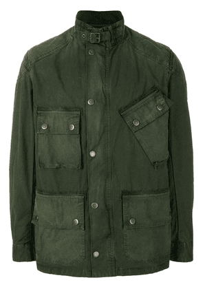 Barbour pocket front and buckle collar jacket - Green