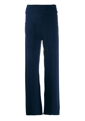 Cédric Charlier knitted wide-leg trousers - Blue