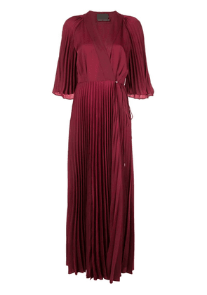 Ginger & Smart Tempera wrap gown - Red