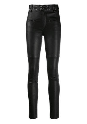Isabel Marant studded leather trousers - Black
