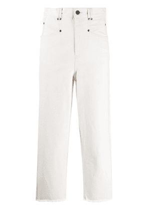 Isabel Marant Daliska high-rise denim jeans - White