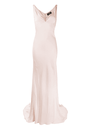 Dsquared2 Lorraine V-neck gown - Pink