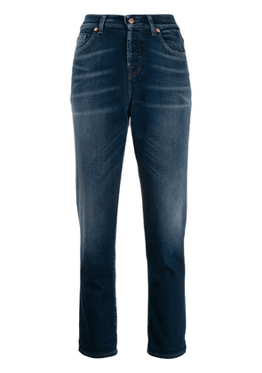 7 For All Mankind mid rise straight jeans - Blue