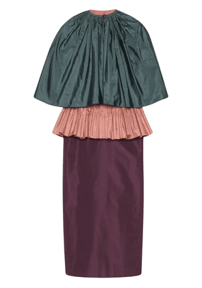 Gucci taffeta peplum dress - Purple