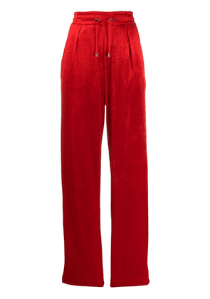 Balmain wide leg jogging style trousers - Red