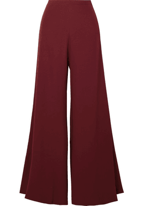 STAUD - Ramon Crepe Wide-leg Pants - Burgundy