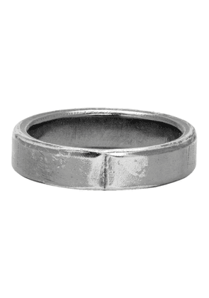 Chin Teo Silver Exposed Joint Midnight 4mm Ring