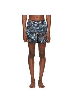 Bather Black Midnight Hawaii Swim Shorts