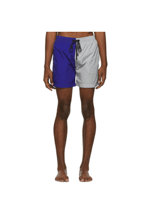 Everest Isles Blue and Grey Colorblock 15 Swim Shorts