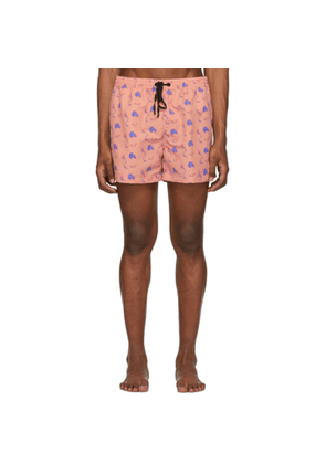 Everest Isles Pink Sea Trash 13 Swimmer Shorts